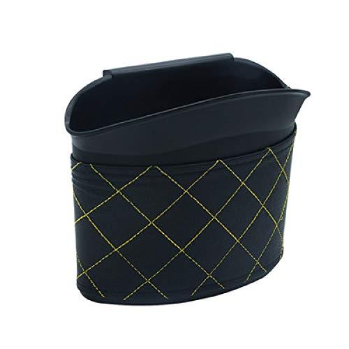 JXHD Poubelle De Voiture/BoîTe De Rangement/Seau De Stockage Parapluie - Creative Fashion Hanging Design Multifonctions, Cuir PU Noir