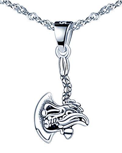 Infinite U - Collar de plata de ley 925 para mujer y niña, colgante de hacha fresca, clásico, regalo de cumpleaños de Navidad