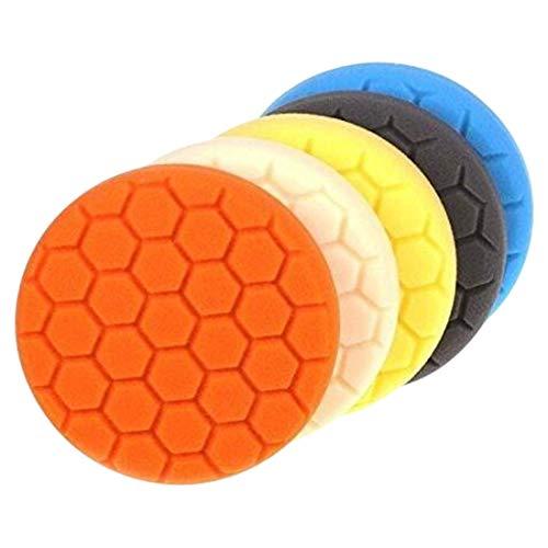 NO LOGO LMY-Kettensägen-Zubehör, 3 Stück, 3/4/5/6/7 Zoll Polierschwamm, Polierpad-Set für Auto-Polierer, Puffer für Auto-Schönheit, Polieren, Wachsen, Glasur (Farbe: 12,7 cm)