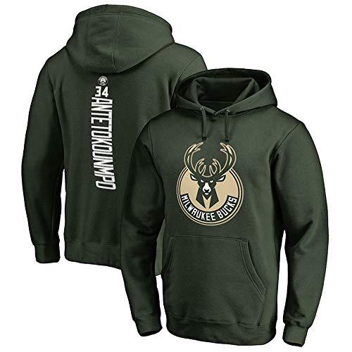 Herren Basketball Hoodie Sweater NBA Bucks 34# Antetokounmpo Basketball Jacke