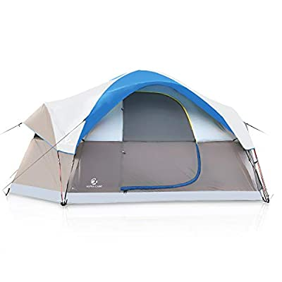 ALPHA CAMP Dome Family Tent Camping Tent 6 Person - Blue 14' x 10'