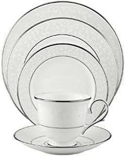 Lenox Opal Innocence Platinum-Banded Bone China 5-Piece Place Setting, Service for 1