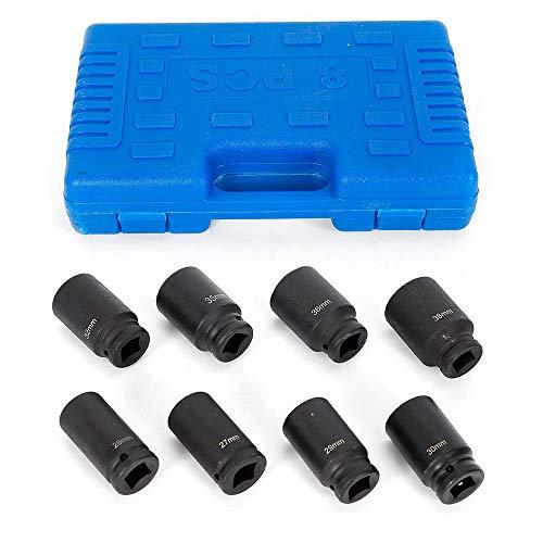 HYLH 8-teilige Schlagschraubermuttern, 3/4 Zoll, 26-38 mm, Steckschlüsselsatz Schlagmutter