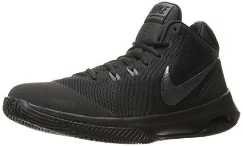 NIKE Men's Air Versitile Nubuck Basketball Shoe, Black/Metallic Dark Grey/Dark Grey, 10.5 D(M) US