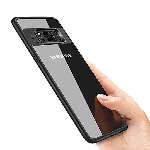 laxikoo Samsung Galaxy S8 Hülle, Silikon Handyhülle für Galaxy S8 Schutzhülle Ultra Dünn Anti-Shock TPU Bumper Hülle Kratzfest Hülle für Samsung Galaxy S8 Hülle Cover, Schwarz