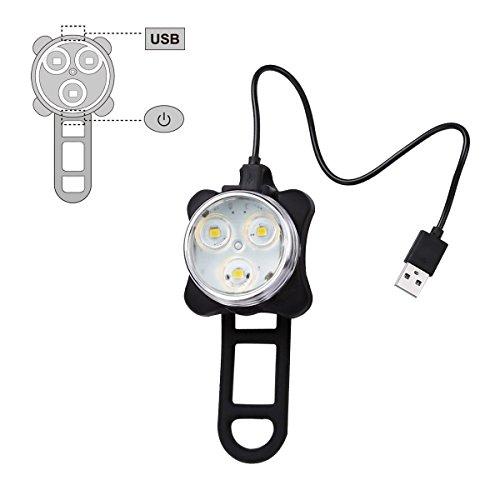 41M2KXZFwcL Ascher USB Rechargeable Bike Light