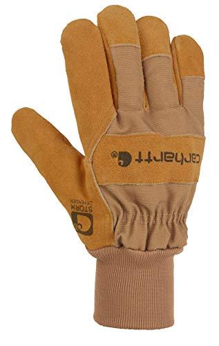 Carhartt Men's Wb Suede Leather Waterproof Breathable Work Glove, Brown, Large