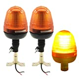 BOFEISI 2Pack 30W LED Strobe Light Amber Rotating Flashing Beacon Impermeabile Trattore An...