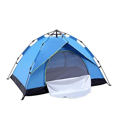 Tienda de tiendas de un solo botón Instalación simple Fácil Prevención de desastres Tienda Impermeable Acabado Camping Equipo de Camping UV Protección al Montañismo Plegable Impermeable Impermeable Al