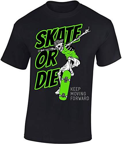 Kinder Skateboard T-Shirt: Skate or Die - Skaten Skater Skaters Board - Shirt für Jungen Junge & Mädchen Geschenk-Idee zum Geburtstag für Kind Kinder Birthday Sport (134/146)