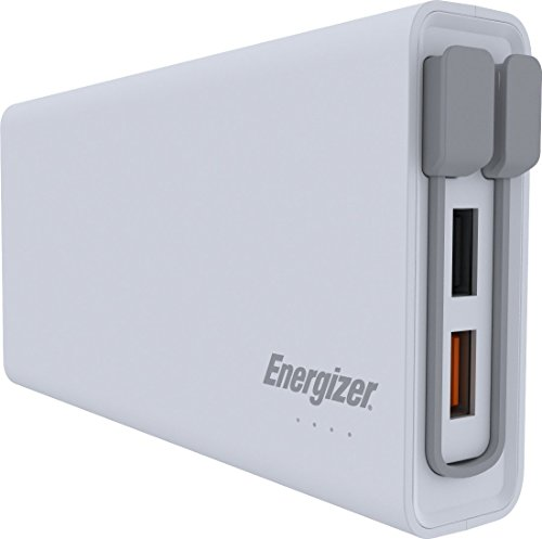 Energizer 10000mAh Quick Charge 3.0 Powerbank, externer Akku Qualcomm Quick Charge für iPhone 11/11 Pro/11 Pro Max, XS/XS Max/XR/X/8/7, iPad, Huawei Mate 20 Pro / P20 Pro, Samsung Galaxy S9/S10 uvm.