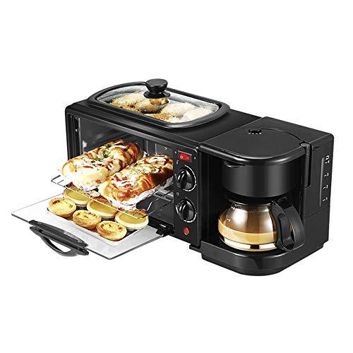 SG Style 3 in 1 Elektrische Frühstücksmaschine, Multifunktions-Kaffeemaschine, Bratpfanne, Mini-Backofen, Pizzaofen, Bratpfanne
