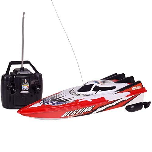 healthwen Telecomando radiocomandato Motoscafo a doppio motore Barca da regata RC Sistema di alimentazione ad alta velocità ad alta velocità Design del tipo fluido