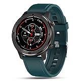 LJMG DT78 1.3 Pulgadas All-Wheel Pantalla Táctil Completa Reloj Inteligente con Podómetro Smartwatch Menor De Ritmo Cardíaco para Hombres Y para Mujer Bracele Inteligente,H