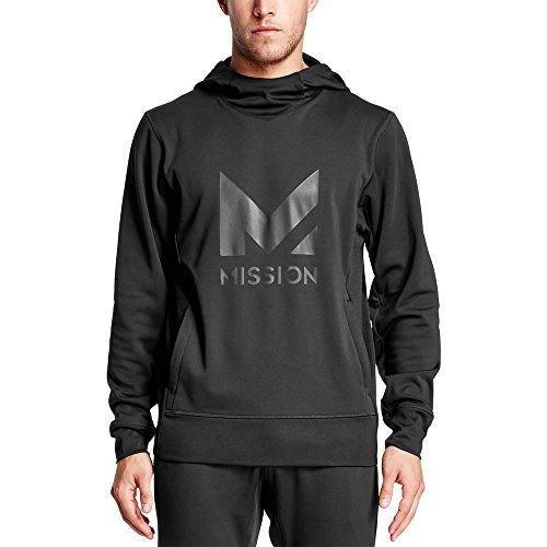 Mission Men's VaporActive Gravity Pullover Hoodie, Moonless Night, X-Large