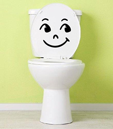 Dinger-Design Aufkleber Toilette lachendes Klo Klodeckel Toilettendeckel 25 x 23 cm