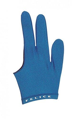 Felice Billardhandschuh, für Rechts- und Linkshänder, Farbe:blau