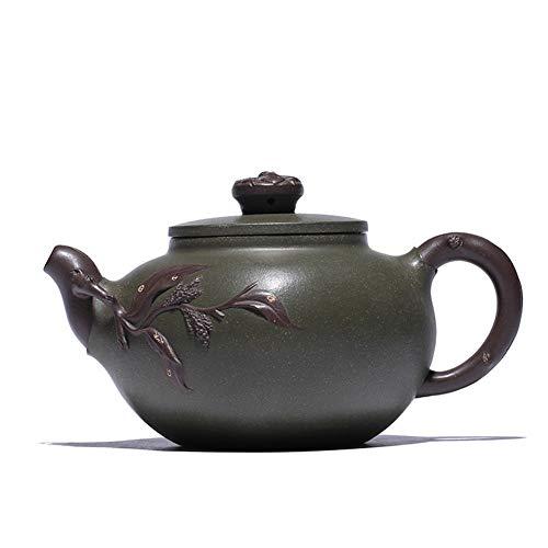 XinQuan Wang Green Clay Teekanne, handgefertigt, Pfirsich-Tee (Farbe: Rot)