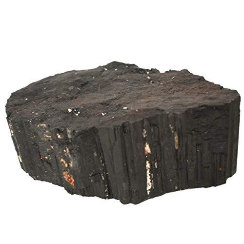 Turmalin schwarz/Schörl Rohstein   Edelstein und Heilstein zur Deko   Schwarze Turmalin Kristalle als Schutzstein gegen Strahlungen und Negative Energien N 370