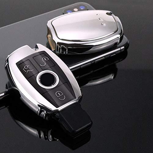 SELIYA TPU Car Key Cover Case, Apta para Mercedes Benz EC Class W204 W212 W176 GLC CLA GLA Car Covers Protect Accessories, A, Astilla