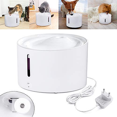 Aufun Katzen Trinkbrunnen, Katzenbrunnen Organischer Filter rutschfest Leise 2L Smart Haustier Wasserbrunne für Hunde und Katzen - 4.5W