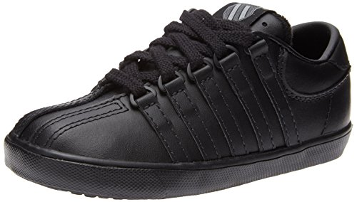 K-Swiss 201 Classic Tennis Shoe (Infant/Toddler),Black/Black,5.5 W US Toddler