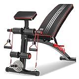 WJSW Sport Hantelbank Multifunktionale Fitness Indoor Rückenbrett Hantelbank Bauchmuskel Gym...