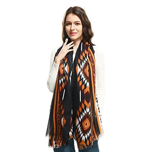 Dhmm123 Bufandas cálidas Bufandas de Mujer Imprimir Bufanda de Cuello Largo Pura Bufanda de Punto Ligera Manta (Color : Pink, Size : OneSize)