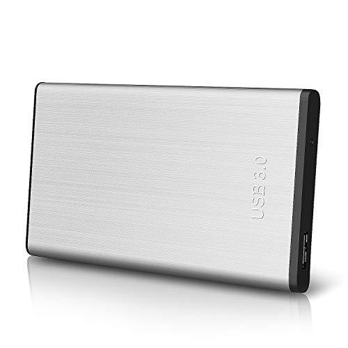 Disco Duro Externo 2tb Portátil 2.5', USB3.0 SATA HDD Almacenamiento para PC, Mac, MacBook, Chromebook, Xbox, PS4 (2tb, Plata)