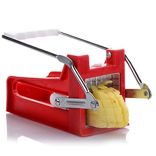 GS Cortador de patatas fritas de acero inoxidable – 10 mm + 15 mm – Cortador de patatas