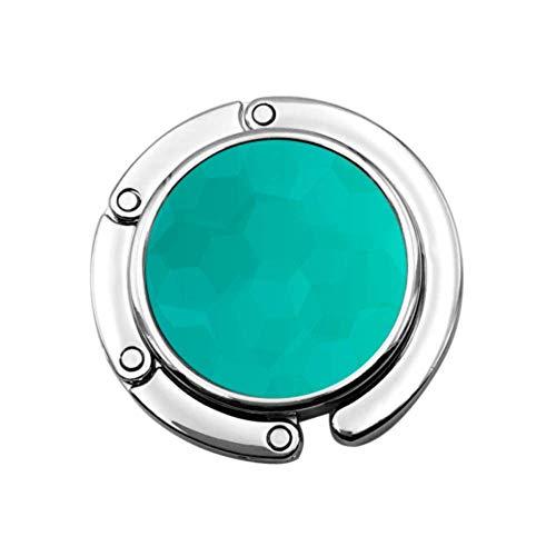 Azul verde azulado color arte acuarela bolso titulares para mesa bolsa escritorio percha diseños únicos plegable sección almacenamiento monedero perchas