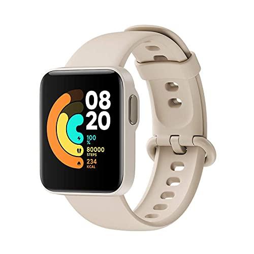 Xiaomi Mi Watch Lite - Reloj Inteligente, GPS, Control frecuencia cardíaca, 11 Modelos de Entrenamiento, Smartwatch Mujeres Hombres con Pantalla a Color AMOLED 1.4