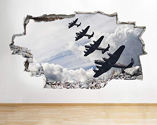 Spitfire Hurricane Vliegtuig Leger Jongens Muursticker 3D Art Stickers Kids Slaapkamer Baby Kwekerij Poster Woonkamer Jongens Meisjes Mural