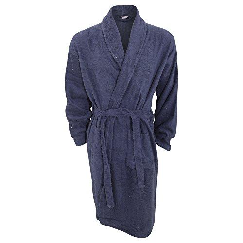 Robe de chambre en coton - Homme (L/XL) (Bleu marine)