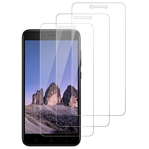 DOSNTO 3-Unidades Protector de Pantalla para Xiaomi Redmi 4X Cristal Templado, [9H Dureza] [Resistente a Arañazos][Kit Fácil de Instalar][Sin Burbujas] Vidrio Templado Screen Protector para Redmi 4X