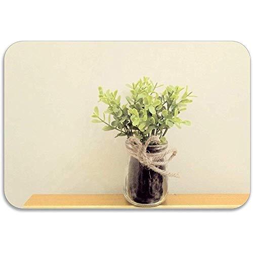Ingang tapijt Plant Bloempot Huisplant Ikebana Vaas Voordeur Ingang Deur Mat Patio Decoratieve Anti-slip All-Season Deurmat 40X60Cm