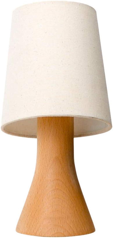Zhang Yan ZYY  Europische Nachttischlampe aus Holz kreatives Schlafzimmer Moderne minimalistische warmes Licht Tischlampe (Gre  XS)