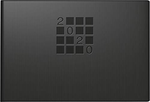 rido/idé 701756190 Taschenkalender Septimus (2 Seite = 1 Woche, 152 x 102 mm, Papier-Einband Linea, Kalendarium 2020) schwarz