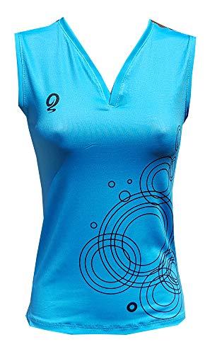 El Gusanillo - Camiseta de pádel o Tenis, un Color Que Siempre te favorecerá - Modelo Unaza Turquesa