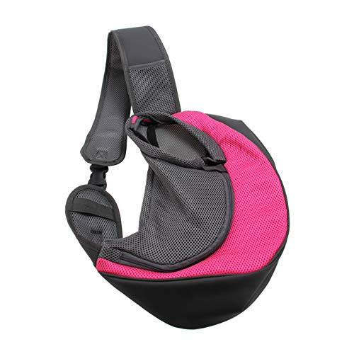 liuxia Bolsa de transporte para mascotas sin mano, bolsa de transporte para cachorro, de malla de viaje, bolsa frontal, bolsa de hombro para caminar al aire libre metro