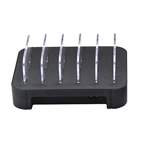 Universele converter draadloze oplader draagbare 5V 30W 5-USB-poort Smart snellader met oplaadkabel, voor smartphones & tablets & Power Bank & Bluetooth headset, 100-240V brede spanning, EU-stekker