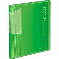 コクヨ ポストカードホルダー ノビータ 固定式 A6 60ポケット 緑 ハセ-N60LG 【まとめ買い5冊セット】