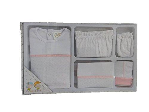 Juego de ropa recien nacido gamberritos color rosa