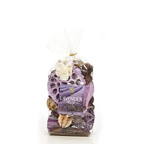Hosley 5 Ounce Chunky Potpourri. Your Choice of Fragrances. Ideal for Dried Floral Arrangements, Spa, Reiki, Meditation, Bathroom Settings (Lavender Fields)