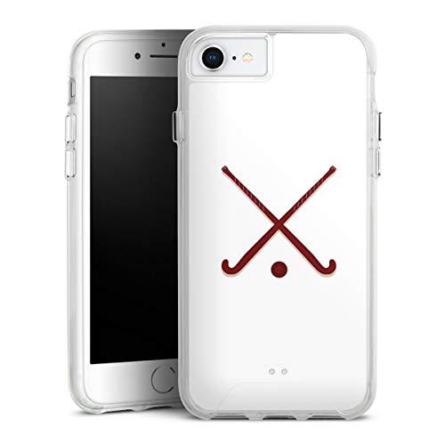 DeinDesign Handyhülle kompatibel mit Apple iPhone 8 Bumper Case Schutzhülle Hockey Hobby Sport