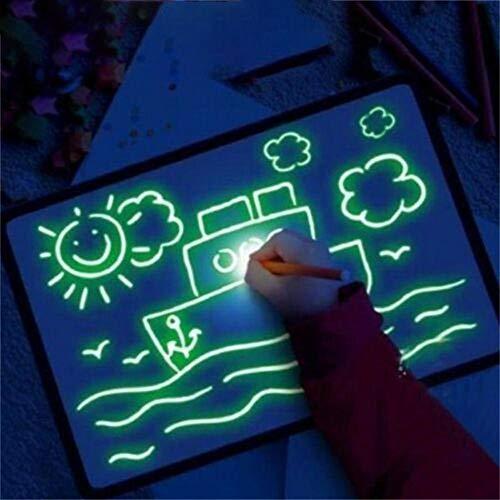 Preisvergleich Produktbild XCVB Schreibtafel Schreibtafel Pädagogische Zeichnung mit leichtem Spaß und Entwicklung von Spielzeugplastik und Karten Magic Draw Kids Geschenke Fluoreszierende Schreibtafel