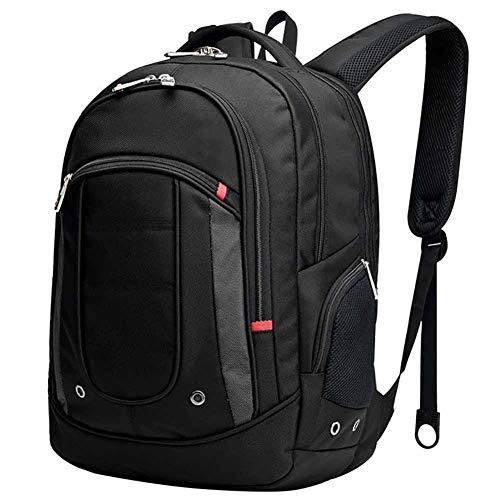 旅行用ラップトップバックパック、防水、耐衝撃性、ユニセックス、16インチラップトップに適しています(黒)