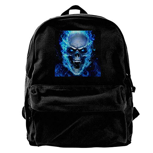 Yuanmeiju Canvas Rucksack Fire Nation Playz Gamer Flame Printed Canvas Daily Backpack Travel Rucksack