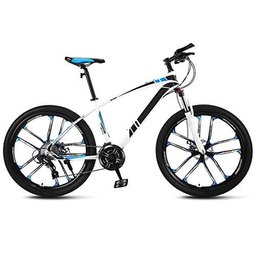 JXJ Mountain Bike per Adulti, Telaio in Acciaio Ad Alto Tenore di Carbonio Biciclette, 21/24/27/30 velocità, 24 Pollici Bicicletta Biammortizzata per Uomini e Donne Adulti