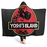 Merryfull Yoshi 's Island indossabile con Cappuccio con Cappuccio Cappuccio Ultra Morbido Micro Pile Uomo Donna Coperta con Cappuccio Fuzzy Leggero Peluche Divano Letto Soggiorno 80' x60 '